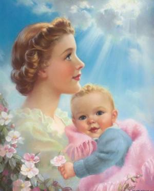 Работе поздравляли с днем матери.  Всех мамочек (настоящих и будущих) .